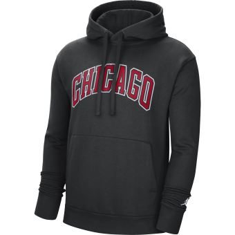 NIKE NBA CHICAGO BULLS STATEMENT EDITION PULLOVER FLEECE HOODIE