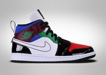 NIKE AIR JORDAN 1 RETRO MID SE WMNS MULTICOLOR WHITE