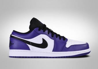 NIKE AIR JORDAN 1 RETRO LOW COURT PURPLE WHITE