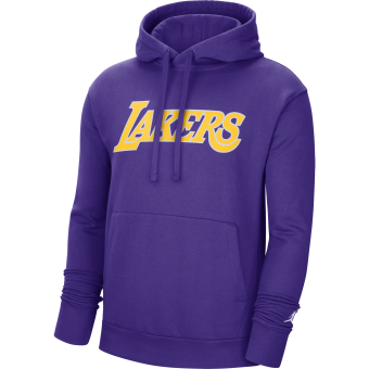 NIKE NBA LOS ANGELES LAKERS STATEMENT EDITION FLEECE PULLOVER HOODIE