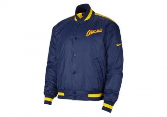 NIKE NBA GOLDEN STATE WARRIORS CITY EDITION COURTSIDE JACKET COLLEGE NAVY