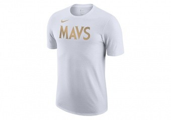 NIKE NBA DALLAS MAVERICKS CITY EDITION LOGO DRI-FIT TEE WHITE