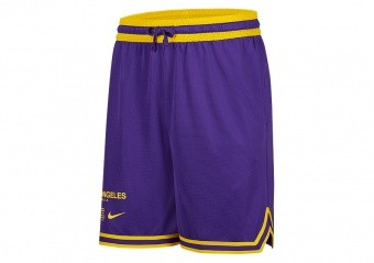 NIKE NBA LOS ANGELES LAKERS COURTSIDE SHORTS FIELD PURPLE