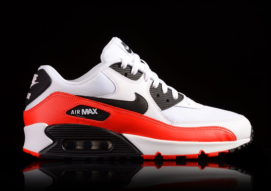 huge selection of 12aaf 991e5 NIKE AIR MAX 90 ESSENTIAL WHITE LIGHT CRIMSON