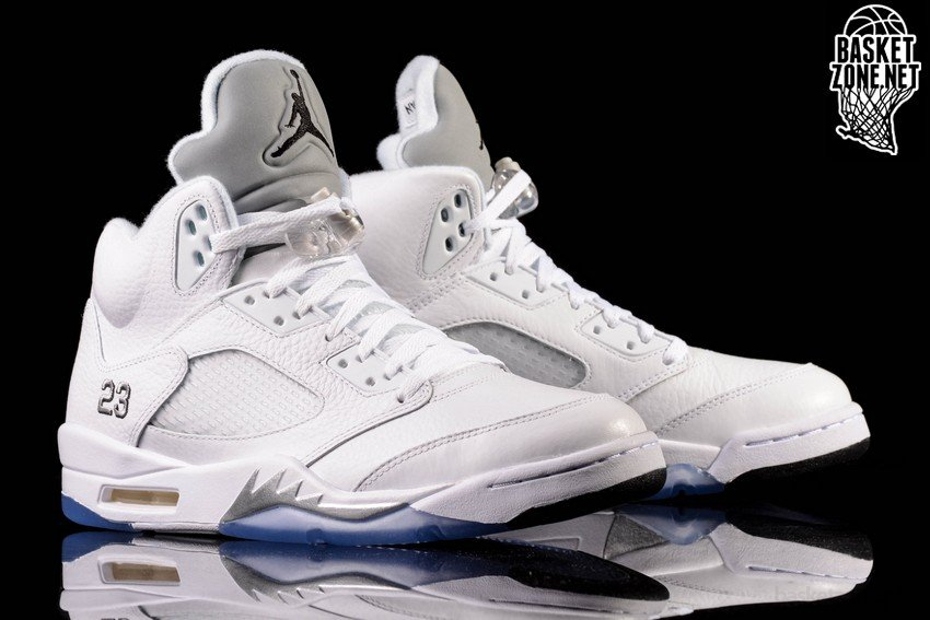 differently 70d52 16472 ... low cost nike air jordan 5 retro white metallic silver a05dc 6aff6