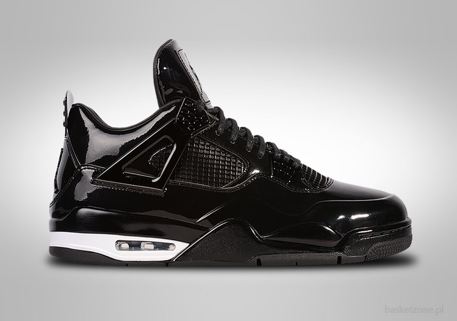 new style 34f35 e10f6 ... netherlands nike air jordan 4 retro 11lab4 black patent 11186 8b74a