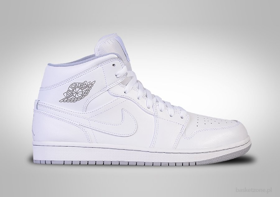 NIKE AIR JORDAN 1 RETRO MID WHITE WOLF GREY