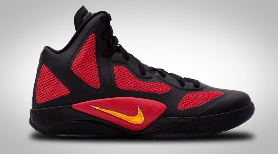 NIKE ZOOM HYPERFUSE 2011 BLACK RED